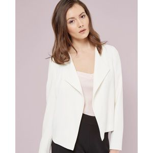 TED BAKER White Waterfall Front Jacket